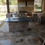 Slate Countertop in Marvin NC Outdoor Kitchen