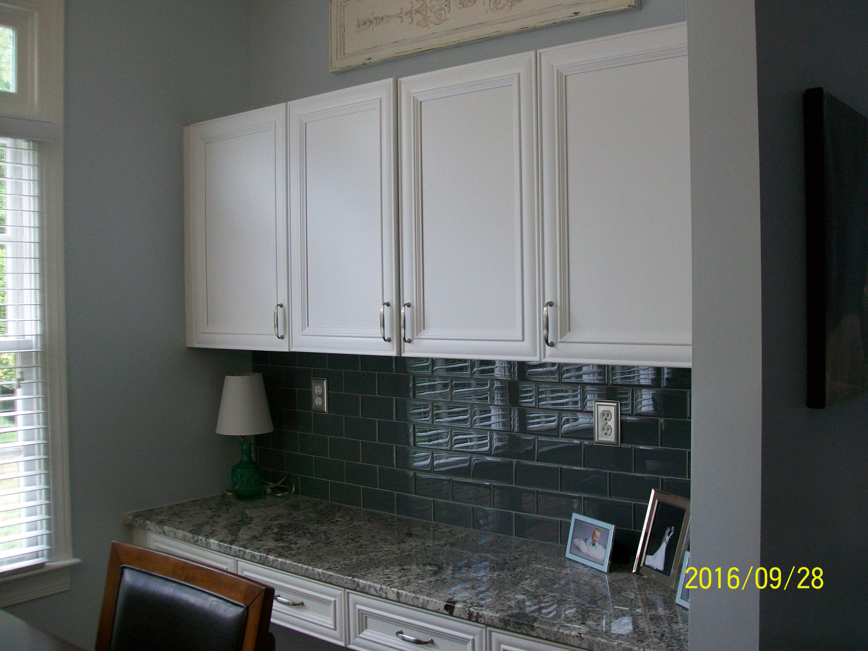 Charlotte Remodeling Contractor Remodels Desk Area For Kitchen