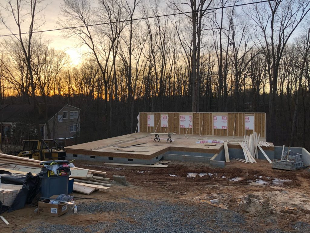Charlotte Custom Home Builder Walls Going Up