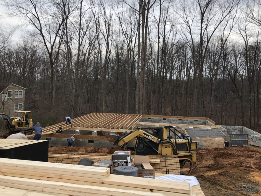 Charlotte Custom Home Builder Framing