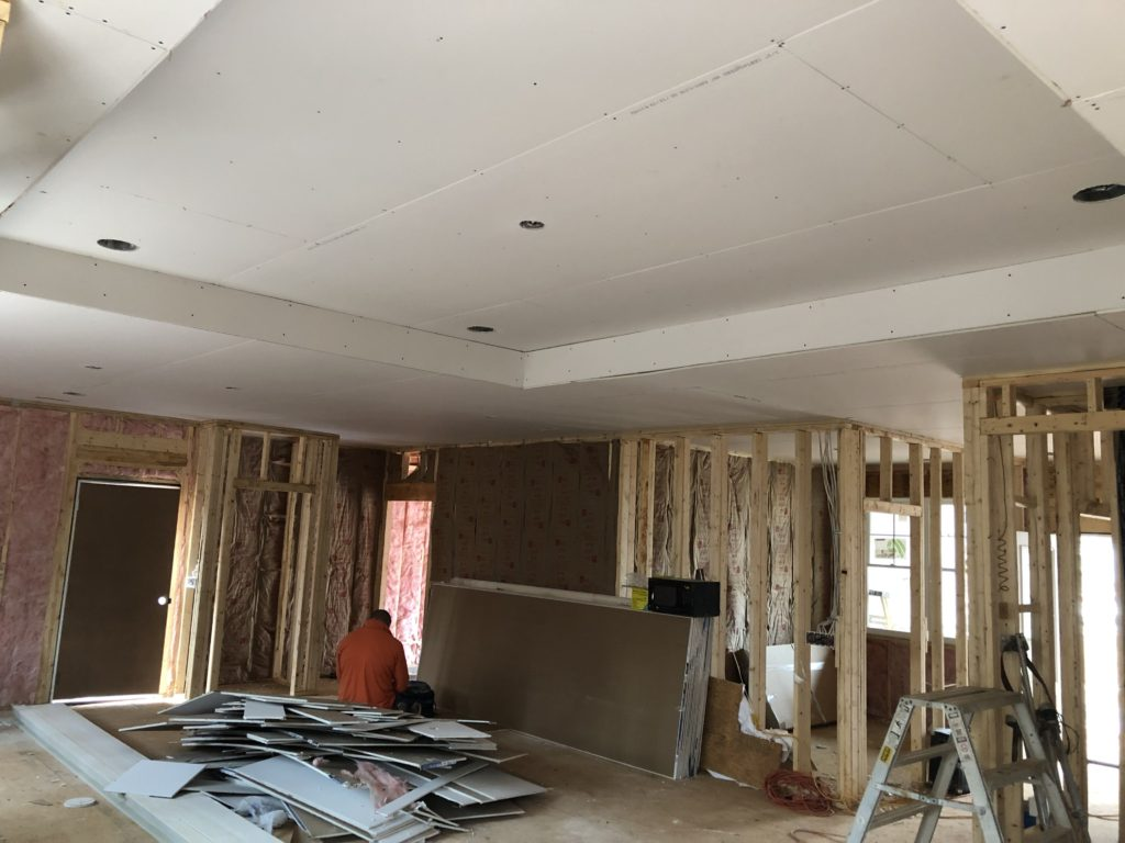 Charlotte Custom Home Builder Sheetrock