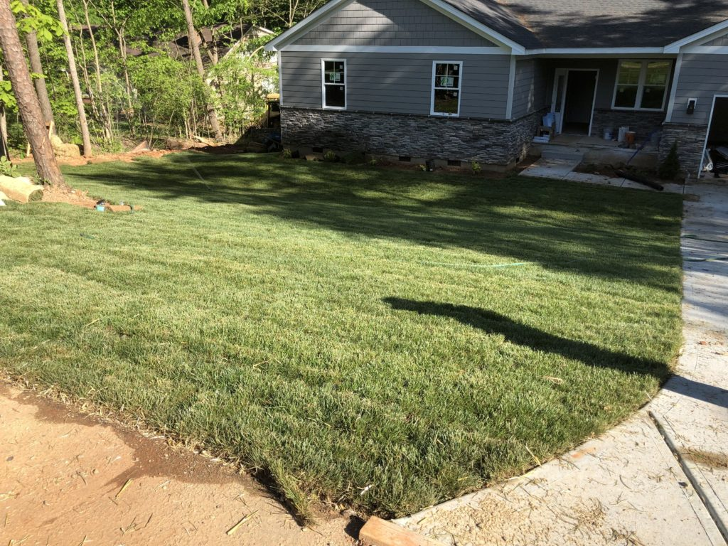 Charlotte Custom Home Builder Sod Laydown