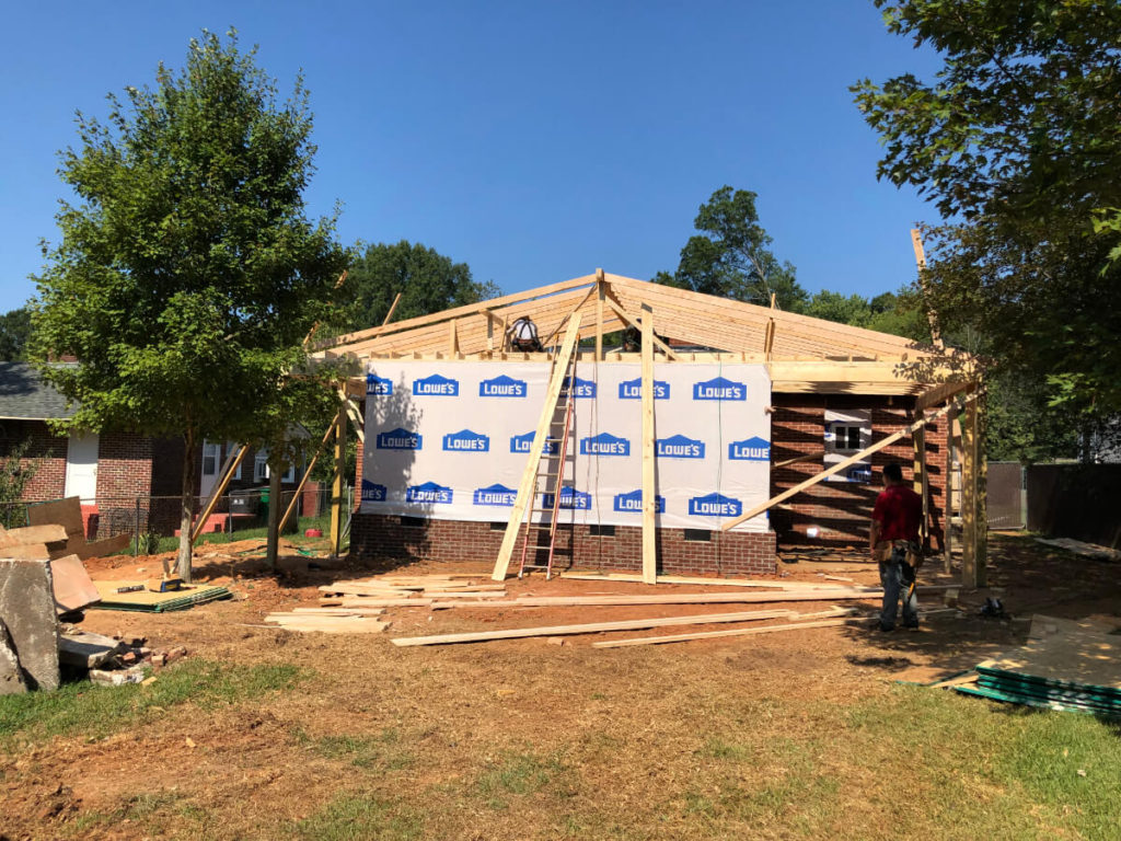 South Charlotte Contractor for Home Addition with Dismantling Roof