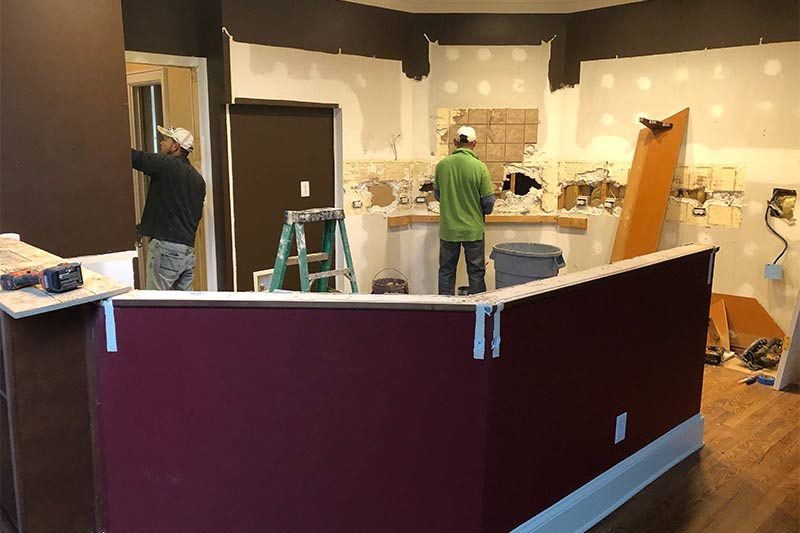 Demo of Charlotte Kitchen to start remodeling