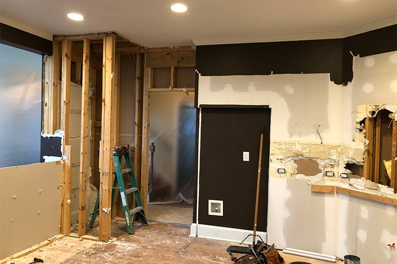 Demo of Charlotte Kitchen removing pantry