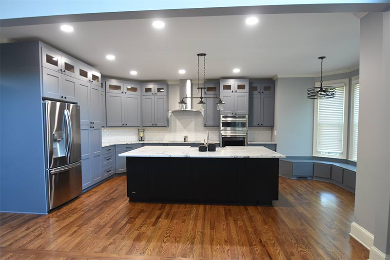 Kitchen Remodel in Charlotte with Sitting Bench